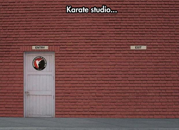 funny karate studio