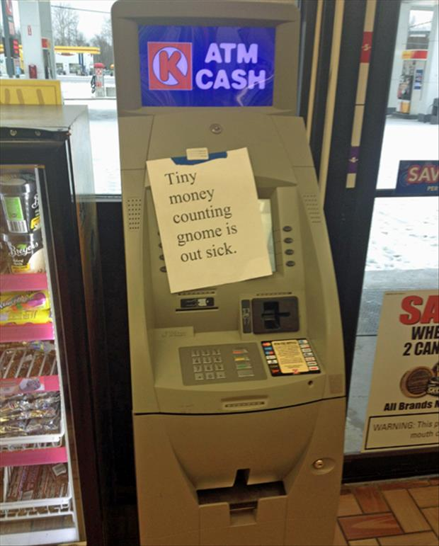 funny out of order atm machine