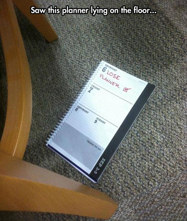 funny planner