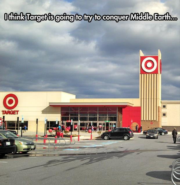 funny target sign