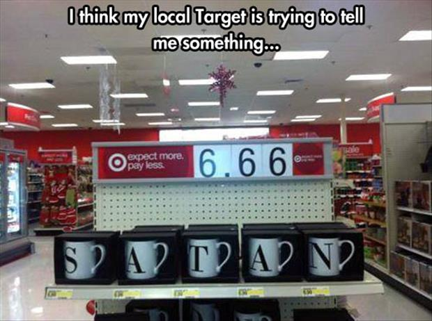 funny target