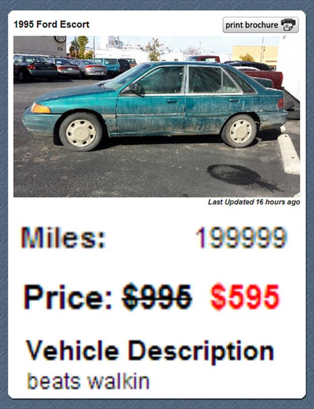 funny used cars for sale