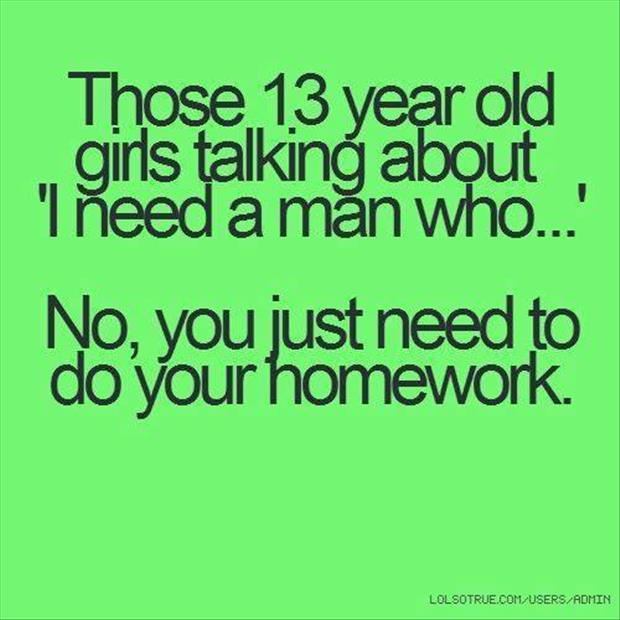 girls need to do their homework