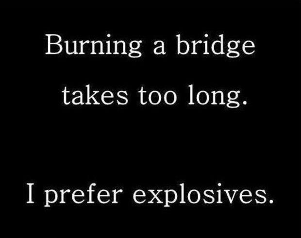 how to burn a bridge