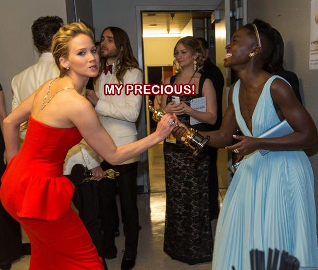 jennifer lawrence at the oscars funny pictures