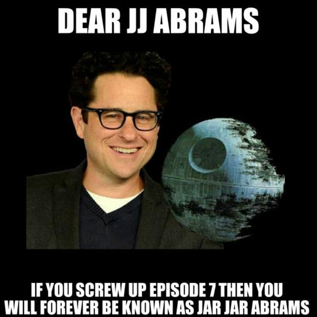 jj abrams making star wars funny