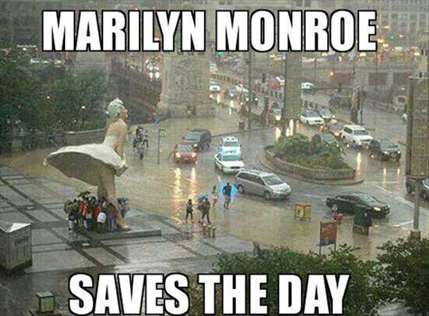 marilyn monroe saves the day