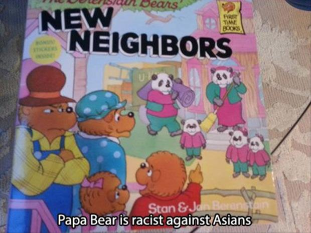 papa bear is racist