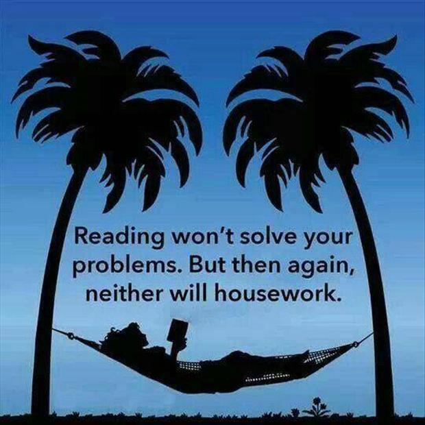 reading won't solve your problems