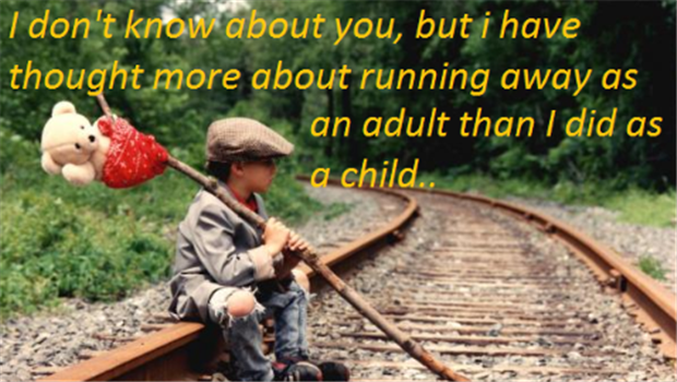 running away as an adult funny