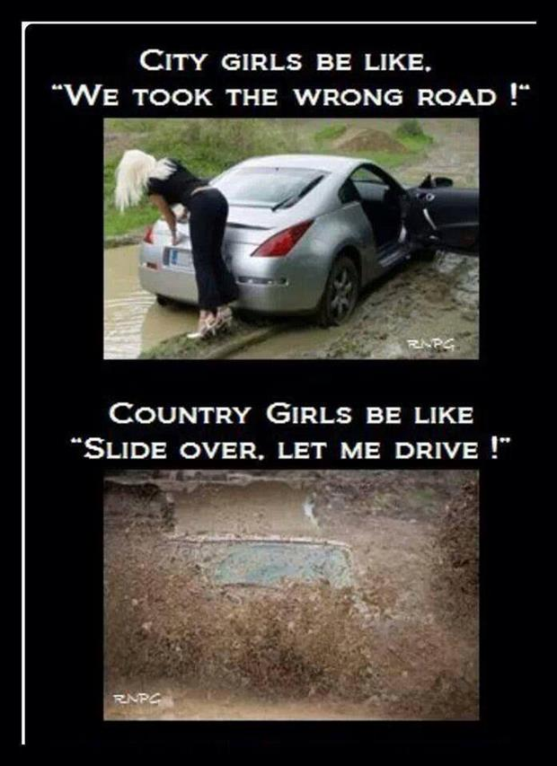 the city women vs country girls