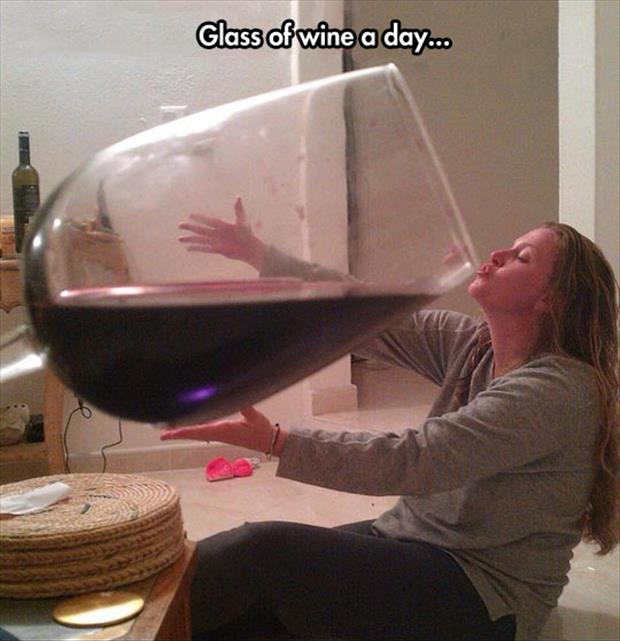 the glass of wine a day
