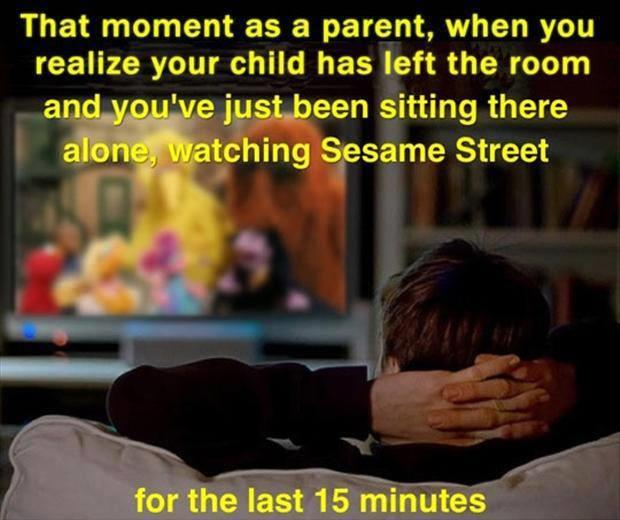 the moment as a parent when you watch your kids cartoons