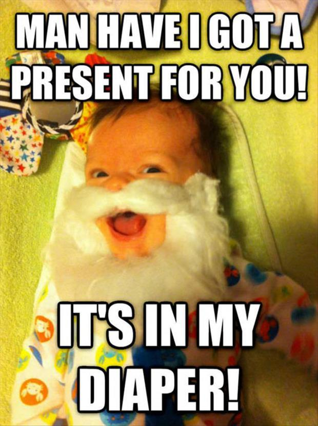 the present is in my diaper