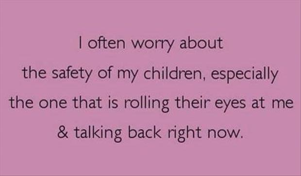 the safety of my children funny quotes - Dump A Day