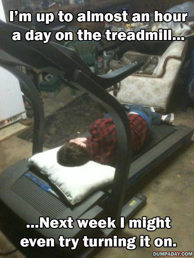 up to an hour a day on the treadmill
