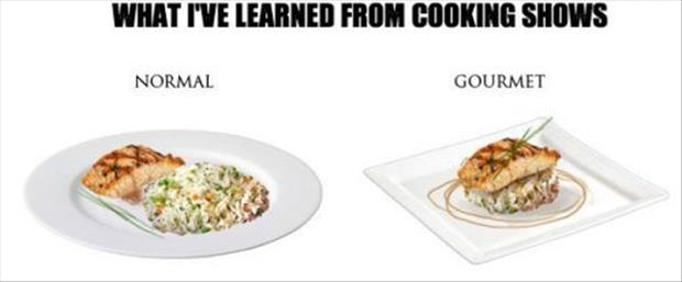 what I've learned from cooking shows