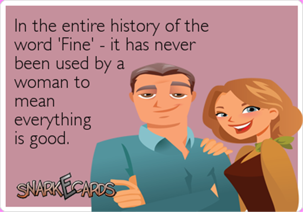 women who say fine
