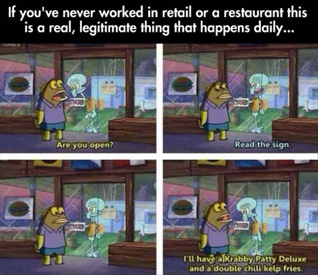 working in retail