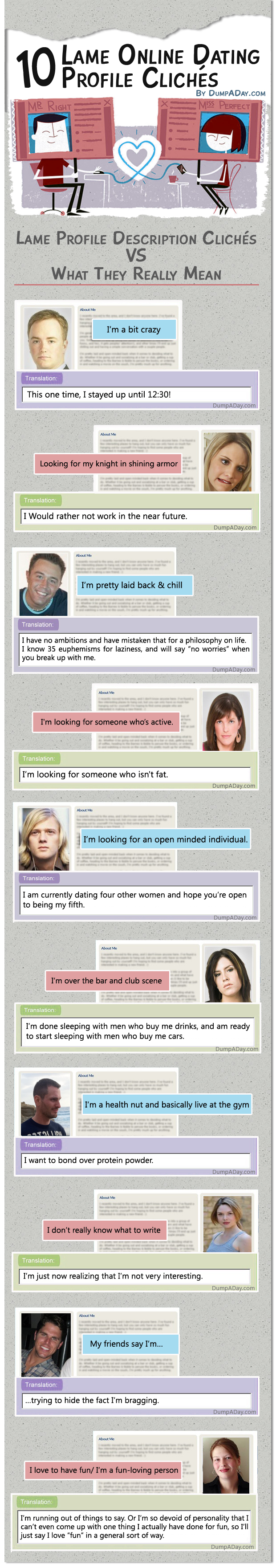 womens dating site profile examples You've been misinformed or lied to about how to write your online dating profile, that's all in this post you'll find 6 easy tips to write the best online dating profile for women – so you wake up every morning with an inbox full of amazing, age- appropriate, handsome men contents [hide] 1 how to write the best online dating.