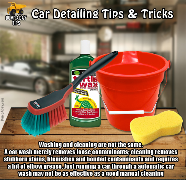 Dump Car Detailing Tips Cleaning and washing - Dump A Day
