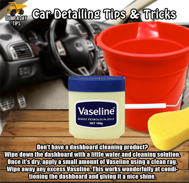 dump car detailing tips vaseline dashboard dump a day. Black Bedroom Furniture Sets. Home Design Ideas