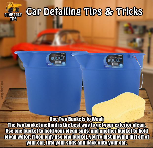 Dump Car Detailing Tips two buckets - Dump A Day
