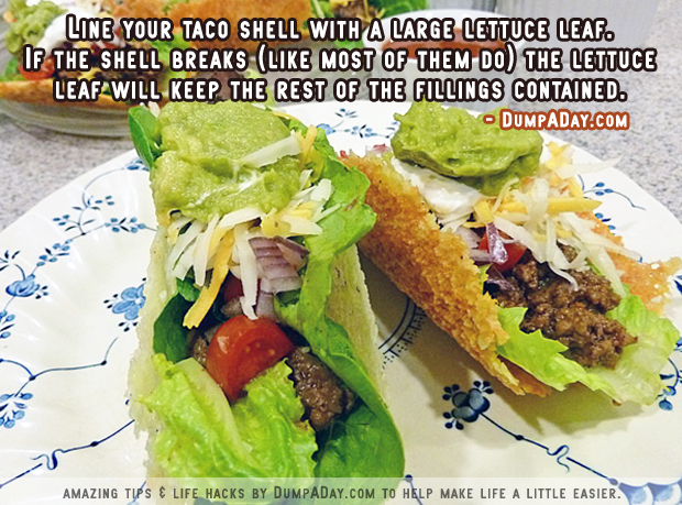 DumpADay Life Hacks- Taco Shell
