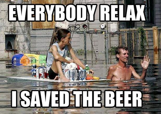 I saved the beer