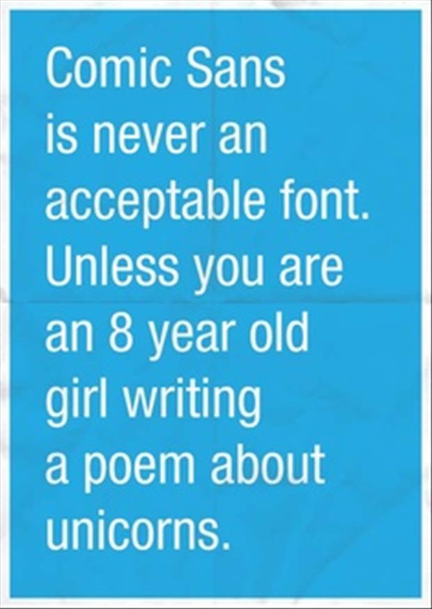 comic sans font funny quotes