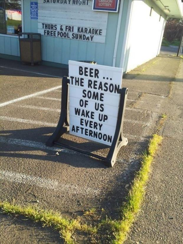 funny beer signs