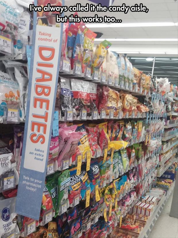 funny candy aisles