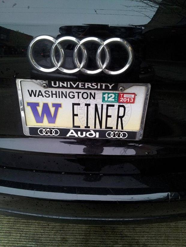 35 funny license plates