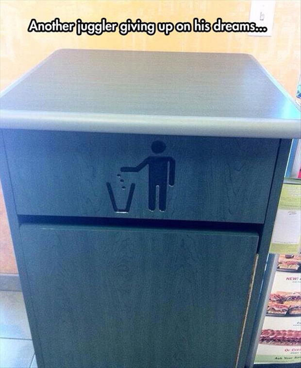 juggler giving up on his dream