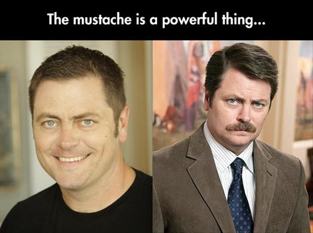 mustache is a powerful thing