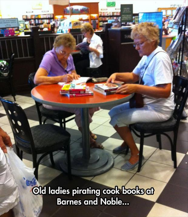 old ladies and cook books