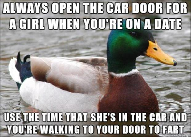 open the door for a lady