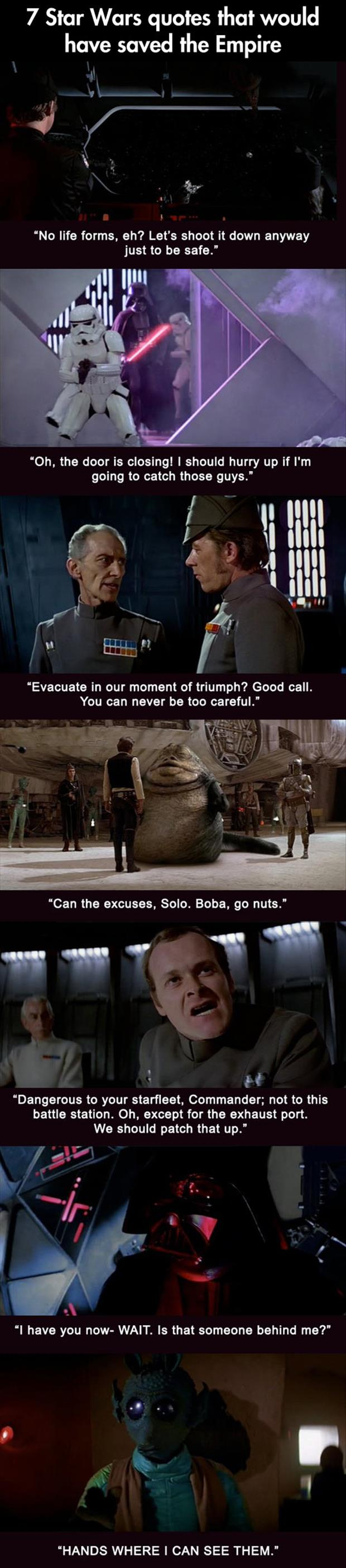 quotes that would've saved star wars