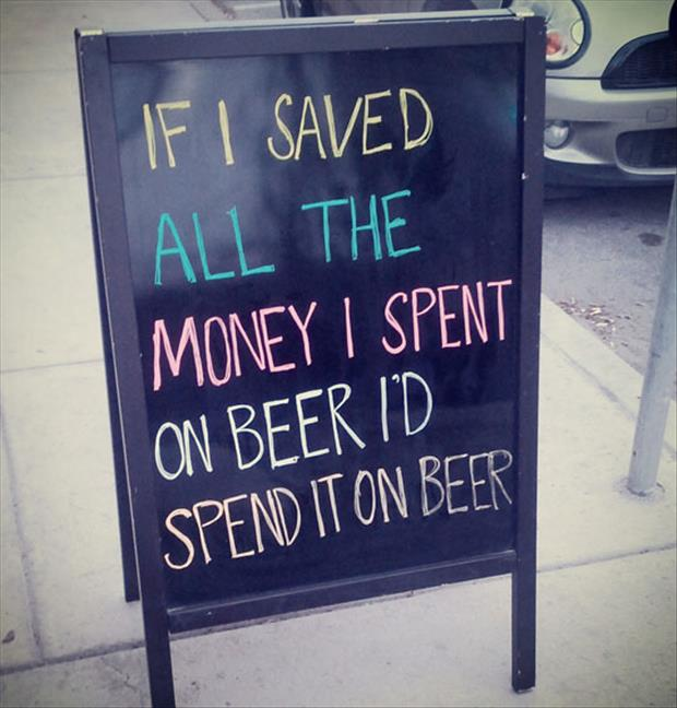 spending money on beer