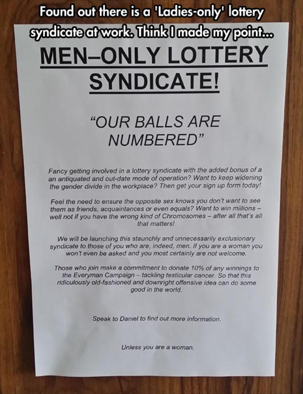 the funny men only lottery