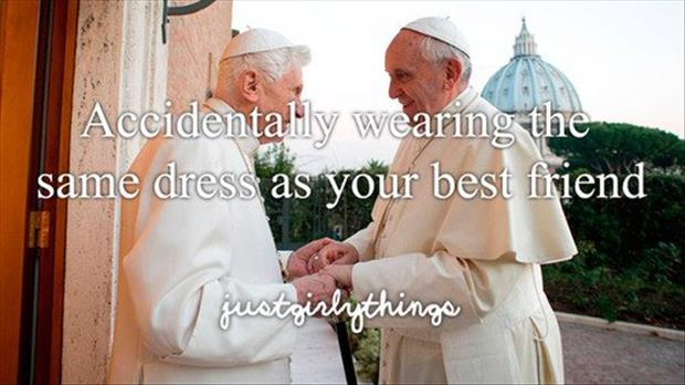 wearing the same dress as your friend
