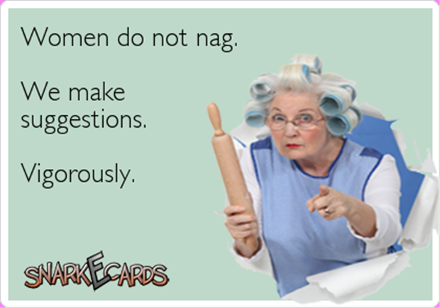 women don't nag