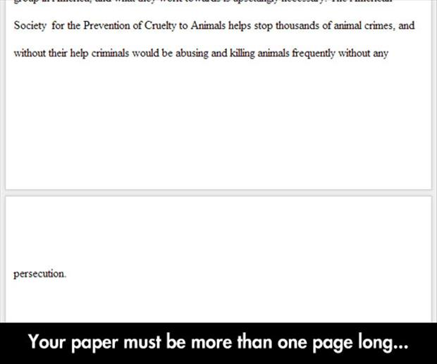 your paper needs to be at least two pages long
