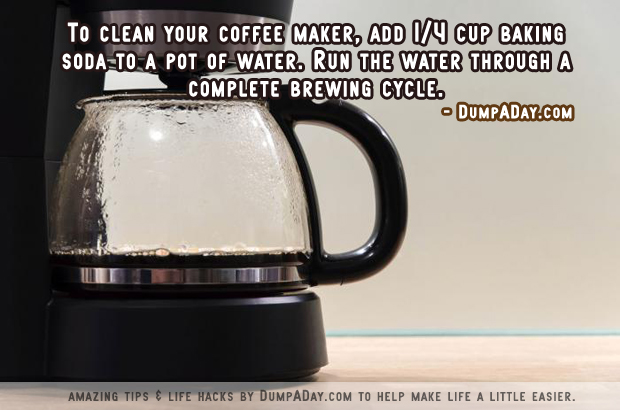 Amazing uses for Baking Soda- Coffee maker