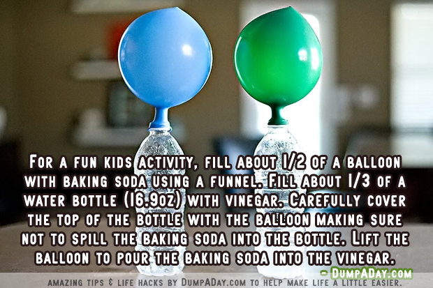 Amazing uses for Baking Soda- blow up balloons