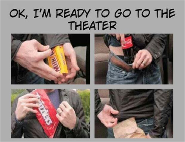 I'm ready to go to the theater