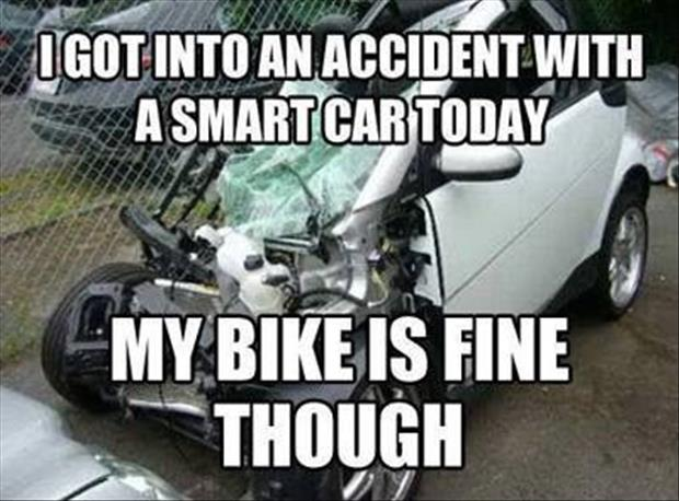 a wreck with a smart car