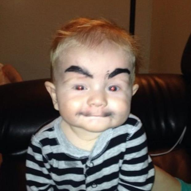 babies with eyebrows funny dumpaday (13)