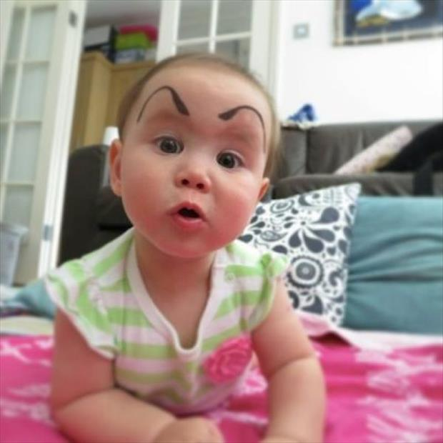 babies with eyebrows funny dumpaday (2)