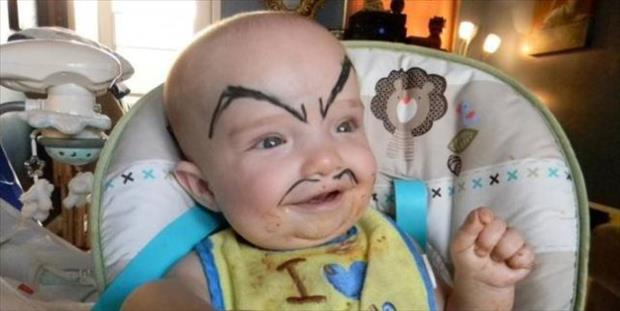 babies with eyebrows funny dumpaday (29)